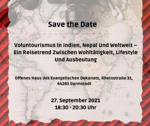 Vortrag: Freiwilligenarbeit in Indien, Nepal und weltweit – Ein Reisetrend zwischen Wohltätigkeit, Lifestyle und Ausbeutung @ Darmstadt